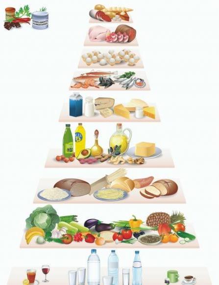 pyramide des aliments bien manger