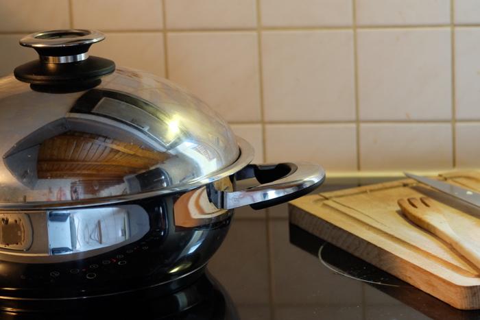cuisson saine des aliments inox
